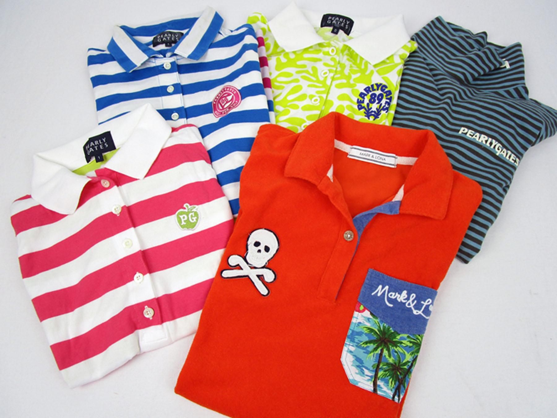 パーリーゲイツとマーク&ロナのポロシャツ。ゴルフウェア買取品